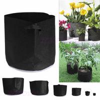 Nieuwe 2 stks 1-10 Gallon Ronde Stof Potten Plant Pouch Wortel Container Waterdichte Zakken voor Bloem Tuin groenten Groeien Zak