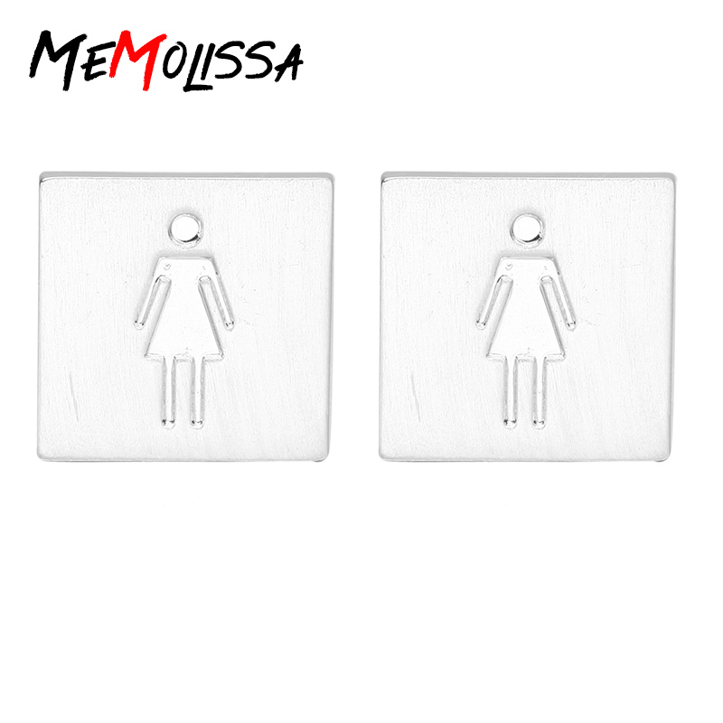 MeMolissa New High Quality Copper Cuff Links Male Female Figure Cufflinks Toilet Signs Cufflink T-shirt Parts Mens Jewellery