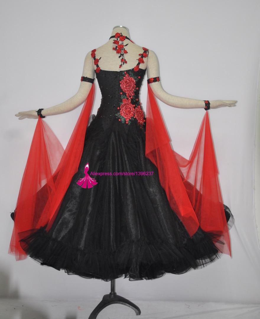 Ballroom Dance Competition Dress Women Black High Quality Custom Made Standard Flamenco Waltz Ballroom Dancing Dresses-in Ballroom from Novelty & Special Use    2