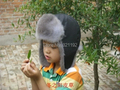 Wholesale high quality plus size winter Children  thicken fox fur bombers hats boy girl  fox Ear protection warm fur hats