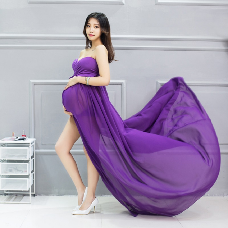 fashion new pregnant women pregnancy photo shooting dress clothes maternity baby shower photography props dresses