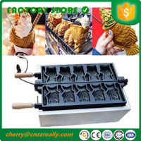 Free shipping electric 5 pieces one time 220v open fish mouth taiyaki machine Ice Cream maker