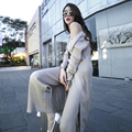 2017 New Arrival Korean Style Women's Suits Loose Long Cardigan + Vest + Pants Knitted 3 Pieces Set Women Clothing Free Shipping