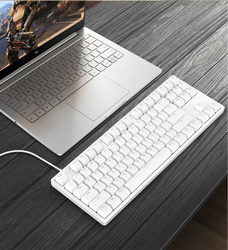 Prix pour Xiaomi Yuemi 87 touches Clavier Mécanique Rétro-Éclairage LED Pro Gaming Clavier Rétro-Éclairé En Alliage D'aluminium pour PC Jeux teclado gamer
