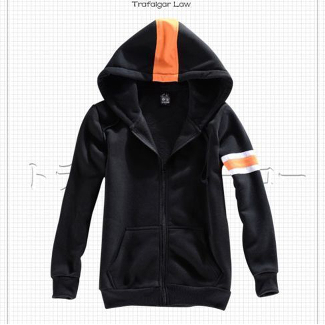 One Piece Trafalgar Law Black Jacket Warm Coat