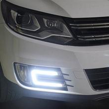 Daytime Running Light Daytime Driving Fog Lights Vehicle LED Car Lamp External Lights Auto Waterproof Car Styling 2pcs стоимость