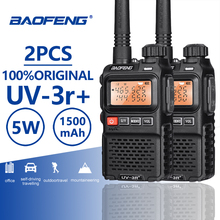 Buy 2pcs BaoFeng UV-3R+ Upgrade Version Mini Walkie Talkie Dual Band Dual Display Amateur Radio Amador Ham Two Way Radio Comunicador directly from merchant!
