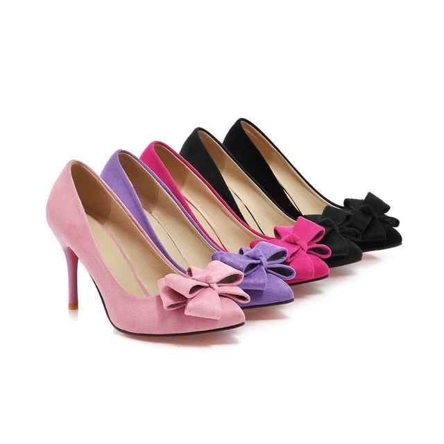 Brand New Fashion Red Black Pink Purple Dark Green Women Nude Pumps Ladies High Heels Formal Shoes AHC668 Plus Big Size 10 43