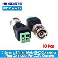 Горячие продажи, NINIVISION CCTV аксессуары 10 шт./лот коаксиальный разъем BNC для коаксиального кабеля, байонетный коннектор твист для системы видеонаблюдения