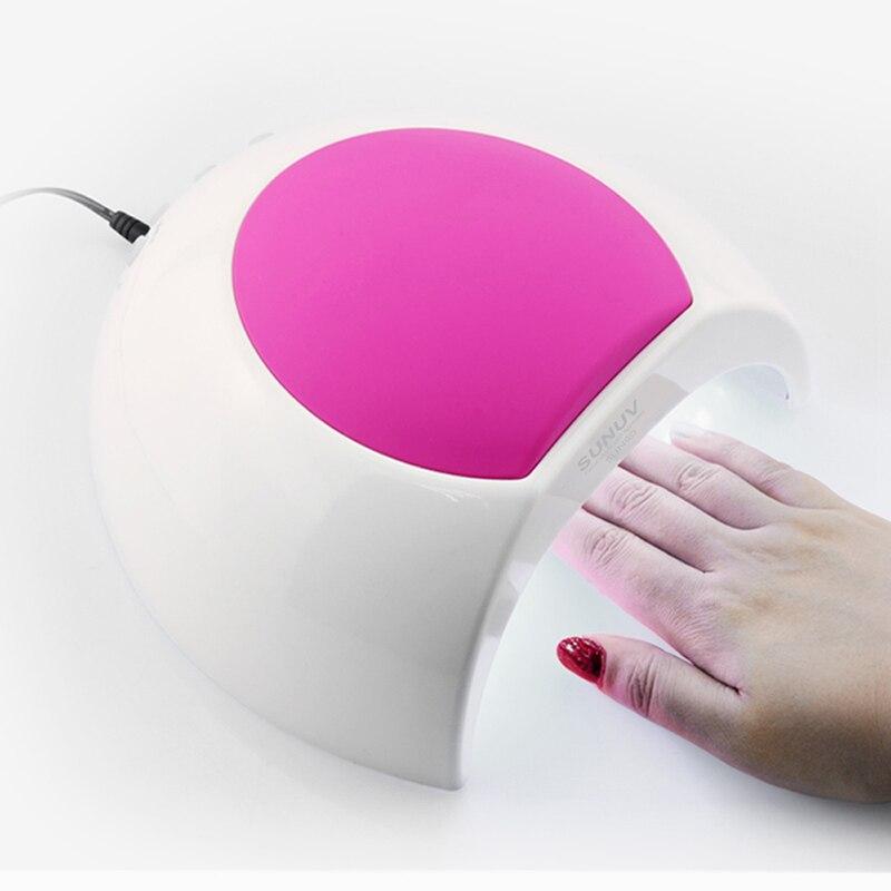 sunuv sun2 профессиональный 48 вт привело УФ лампы ногтей гель польский сушилка 110-220 в для шеллак лак, 30 s/60 s таймер