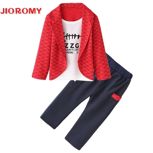 Summer 2017 New Baby Boy Pattern Rabbit Toddler Plaid Kids Clothes Children Clothing Set k1
