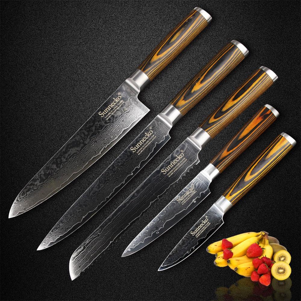 Sunnecko 5шт кулінарний ніж встановити - Кухня, їдальня та бар