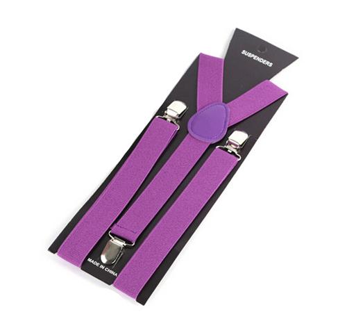 More Color For Choose New Mens Womens Unisex Clip-on Suspenders Elastic Y-Shape Adjustable Braces Colorful- 0055 19