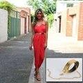 Hebilla de Oro de Moda de lujo de Cuero de LA PU Flaca Fina Correa de Cintura de Moda Hip Mujeres de Las Señoras de La Pretina Faja Para Vestidos/Blusas/pantalones