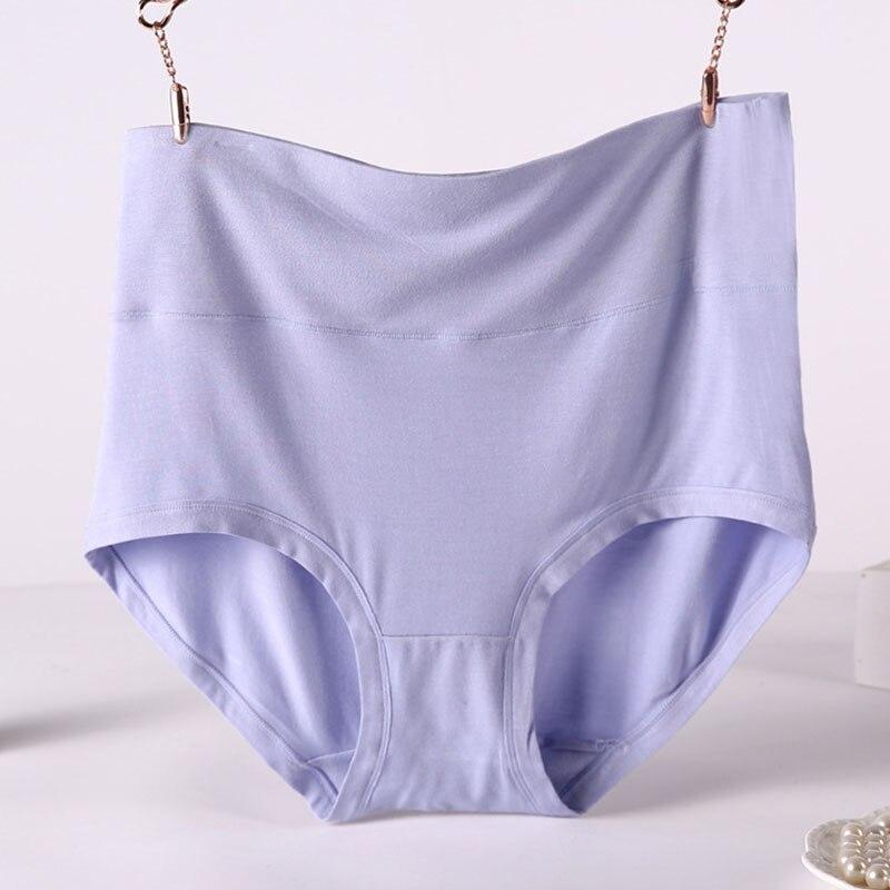 V001 4Pcs/Lot High Waist Plus Size Lenceria Briefs For Women Bamboo Fiber   Panties   Seamless Lingerie Underwear Bragas Mujer