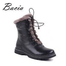B aciaฤดูหนาวกลางC Ulfที่อบอุ่นขนสัตว์รองเท้าที่ทำจากขนสัตว์แท้Full G Rainหนังยาวรองเท้าหิมะตุ๊กตาผู้หญิงที่มีคุณภาพสูงรองเท้าแบนVB054