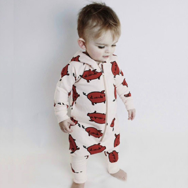 New Autumn Baby Cute Cartoon Printed Rompers Childrens Clothes for Girls and Boys Jumpers Childrens Outfits Clothes SR299