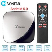4 Гб 64 Гб X88 Pro Smart tv BOX Android 9,0 Rockchip RK3318 четырехъядерный wifi H.265 проигрыватель Google X88Pro 4 ГБ 32 ГБ телеприставка 2G 16G