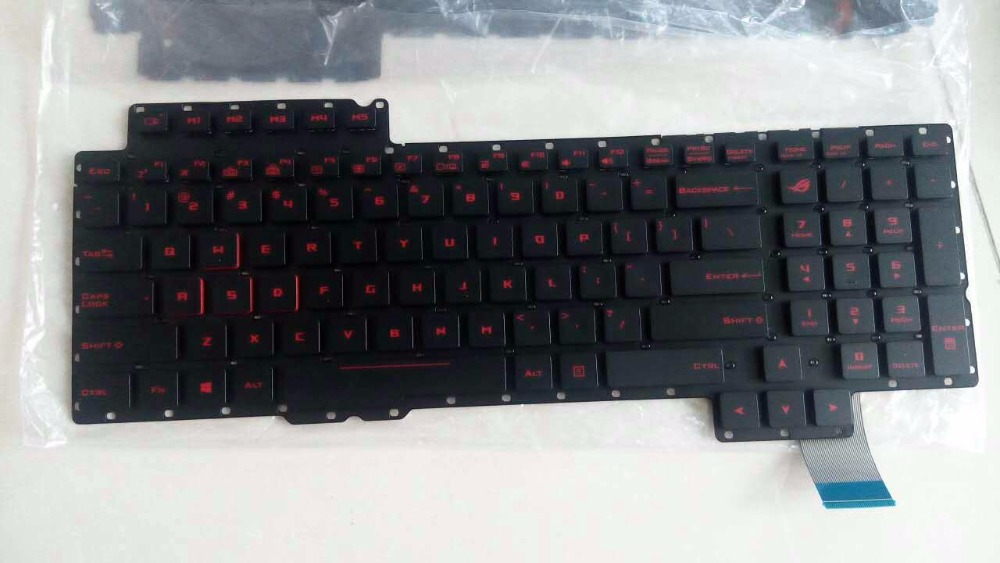 US notebook Laptop Keyboard for ASUS G752 0KN0-SI1US11 0KNB0-E610US00 V153062AS1 US with backlit серебряное кольцо ювелирное изделие np2343