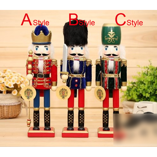 HT069 free shipping Movable doll puppets 38cm classic puppet Nutcracker soldiers novelty children Christmas toy ht025 free shipping movable doll puppets 13cm hardcover box painted walnut wooden nutcracker children christmas toy 2pcs lot
