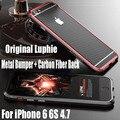 Алюминиевый Корпус Для IPhone 7 Plus 6 S 6 Роскошный Оригинальный Luphie металлический Каркас + Углеродного Волокна Наклейка Обложка Чехол для IPhone 6 S IPS19
