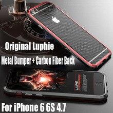 Aluminum Case For IPhone 7 Plus 6S 6 Luxury Original Luphie Metal Frame + Carbon Fiber Sticker Cover Case for IPhone 6S IPS19