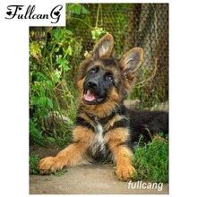 FULLCANG full square diamond embroidery shepherd dog diy 5d painting cross stitch animal mosaic needlework kits D626