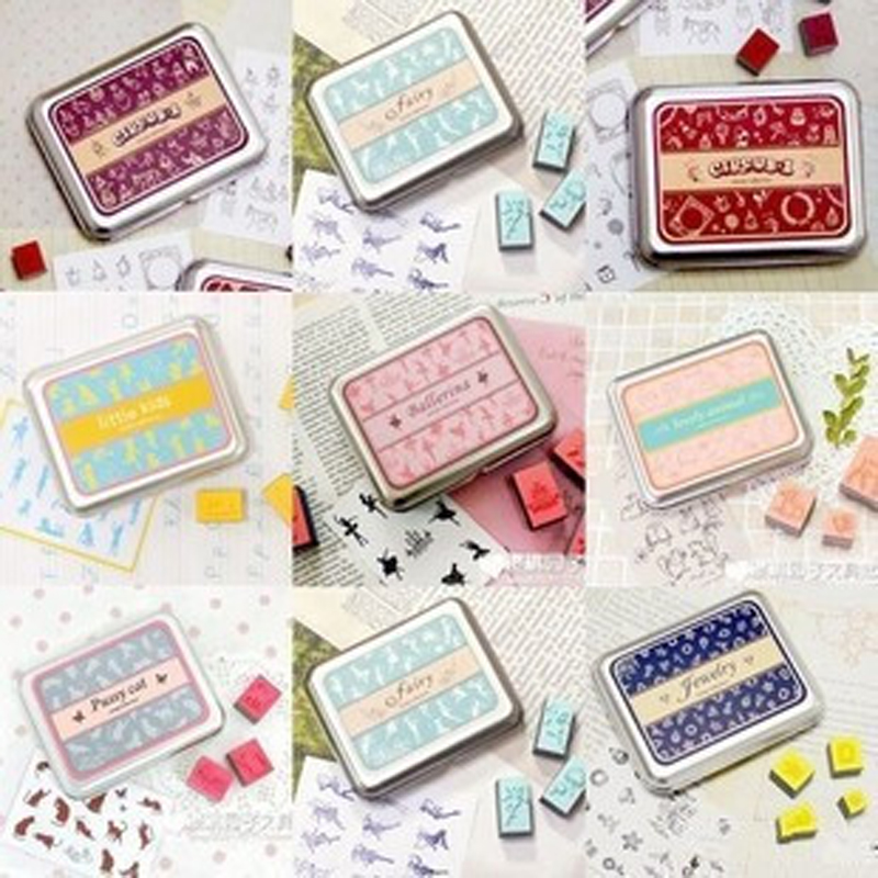 Vintage Stamp Wood Iron Box Seal Children DIY Scrapbooking Decortaion Stamp Stationery Set scrapbooking stamp diy size 14cm 18cm acrylic vintage for photo scrapbooking stamp clear stamps for scrapbooking clear stamps 04