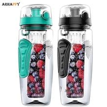 BPA Free Fruit Infuser Water Bottle Juice Shaker Sports Lemo