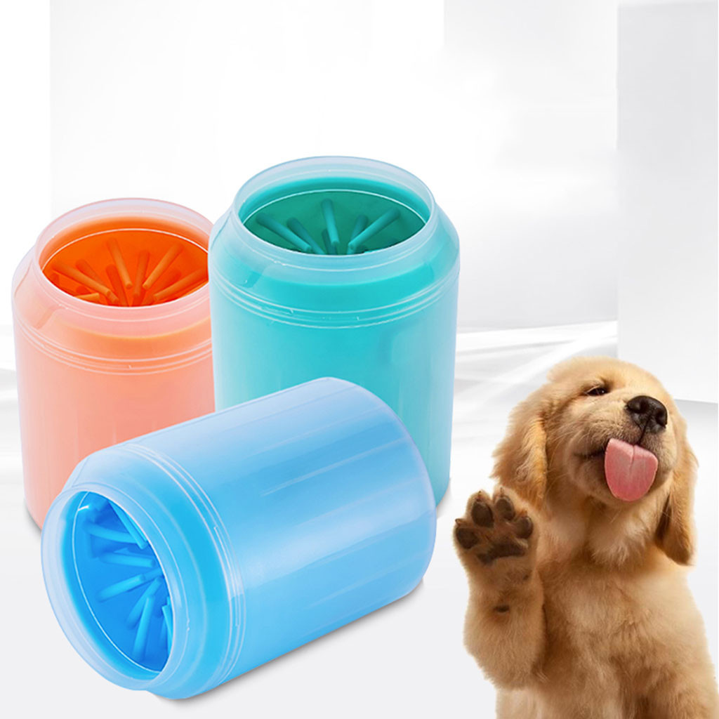 Pet Dog Foot Cleaning Cup Paw Brush Clean Tool Washing Washer Outdoors Pet Cleaning Brush Cup Dog Foot Cleaner Feet Washer