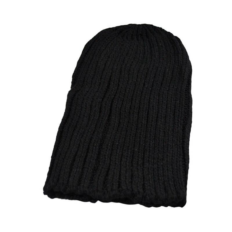 Hot Sale Winter Casual Hip Hop Beanies Men Knitted Bonnet Hats For Men'sCrochet Warm Cap 1