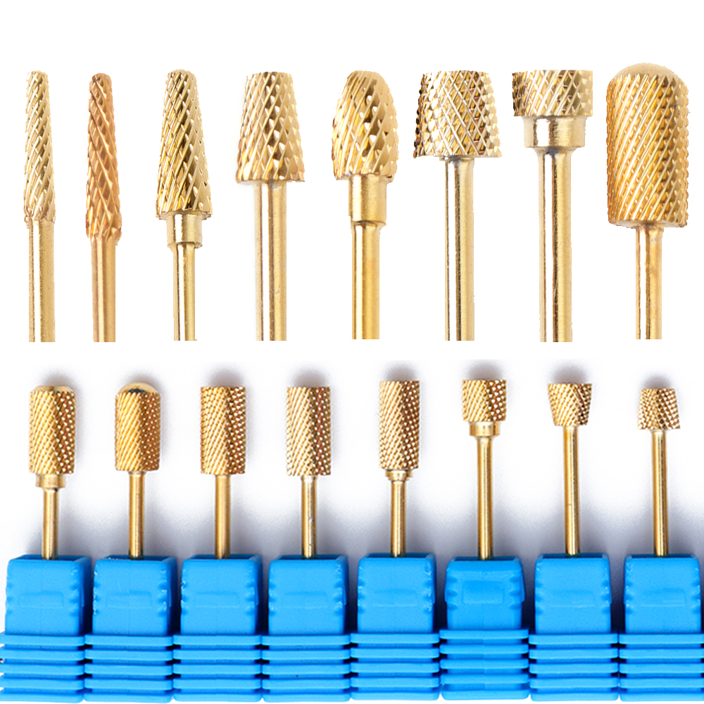 1pcs Golden Diamond Carbide Nail Drill Bits Rotary Burr Bit Pedicure Tool for Electric Nail Manicure Machine Drill Access JSTZ-J цена 2017