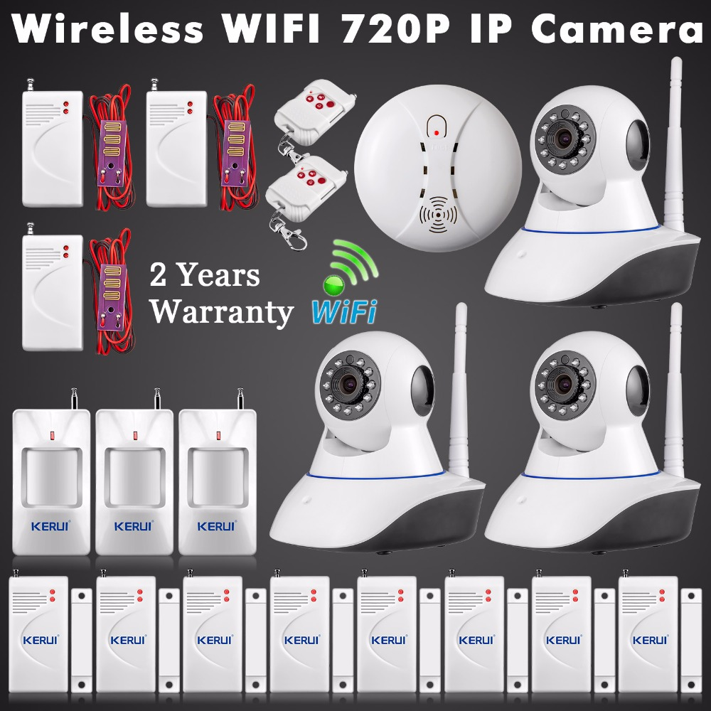 WiFi IP Camera ISO Android APP Control Wireless Home Alarm System Security HD CCTV Wireless Water