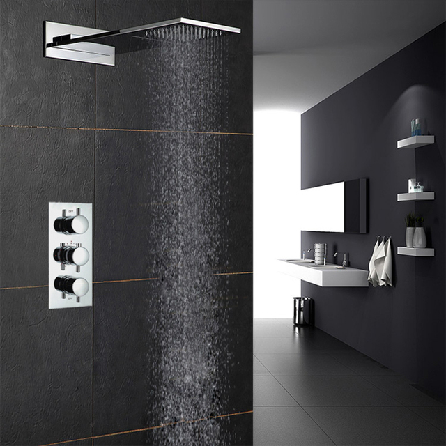 European Style Thermostatic Shower Faucets Set Three Functions ...
