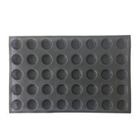 Subway demarle Silform Style Non stick Perforated Baking Mold for 4 Inch Buns 20 Molds silicone bread pan