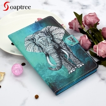 Cute Cartoon Universal Painting Tablet Case for 8.0 inch Shockproof Protective Tablet Flip Stand Magnetic PU Leather Cover