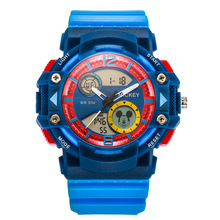 Original Disney children boys watches kids sports digital clocks Multifunction Outdoor waterproof Mickey rubber number MK-15023