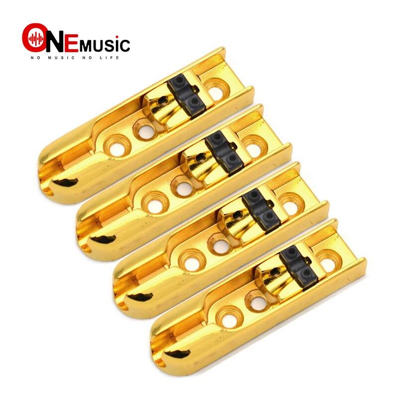 1set 4 string bass electric guitar bridges guitar accessories unique design gold in guitar parts. Black Bedroom Furniture Sets. Home Design Ideas