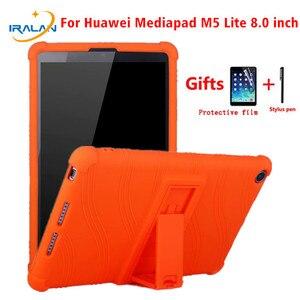 Силиконовый чехол для Huawei Mediapad M5 Lite 8 T5 8,0 дюймов защитный чехол с подставкой Honor 5 8,0
