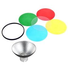Godox AD-M Padrão Refletor Dish Beleza com 5 Filtros de Cor Difusor para Speedlite Flashes Godox AD180 AD360 AD360II AD200