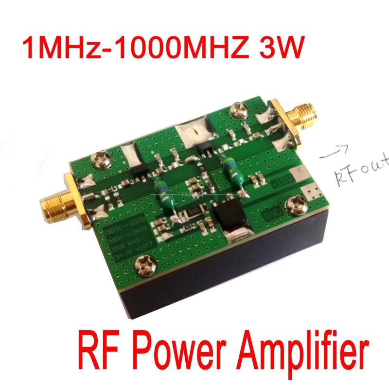 1MHz-1000MHZ 35DB 3W HF VHF UHF FM transmitter Broadband  RF Power Amplifier For Ham Radio1MHz-1000MHZ 35DB 3W HF VHF UHF FM transmitter Broadband  RF Power Amplifier For Ham Radio