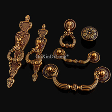 Retro 1PCS European Antique Kitchen Cabinet Door Handles Cupboard Wardrobe Drawer Cabinets Pulls Handles and Knobs цены