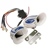12V Magic 8 Octave Motorcycle Car Electronic Horn Siren Loud Air Snail Horn for car modified