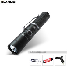 Rechargeable Torch KLARUS AR10 CREE XP-L HI V3 LED 1020 lumens angle light adjustable head torch with battery + charger cable цена