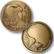 High quality and low price Bald Eagle antique Bronze Engravable Medallion coin FH810093