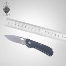 купить Kizer folding pocket knife survival knife Zipslip 2019 new G10 knife tactical hunting knife edc hand tools дешево
