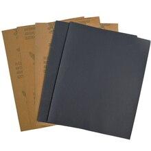 5 pçs superfine lixa escovado água lixa de polimento de papel ferramentas moagem grit 60 80 120 240 1000 2000 papel abrasivo