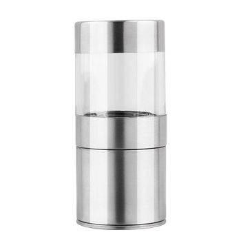 10 pcs New Arrive Novetly Home Kitchen Tool High Quality Manual Stainless Steel Salt Pepper Mill Spice Sauce Grinder Silver