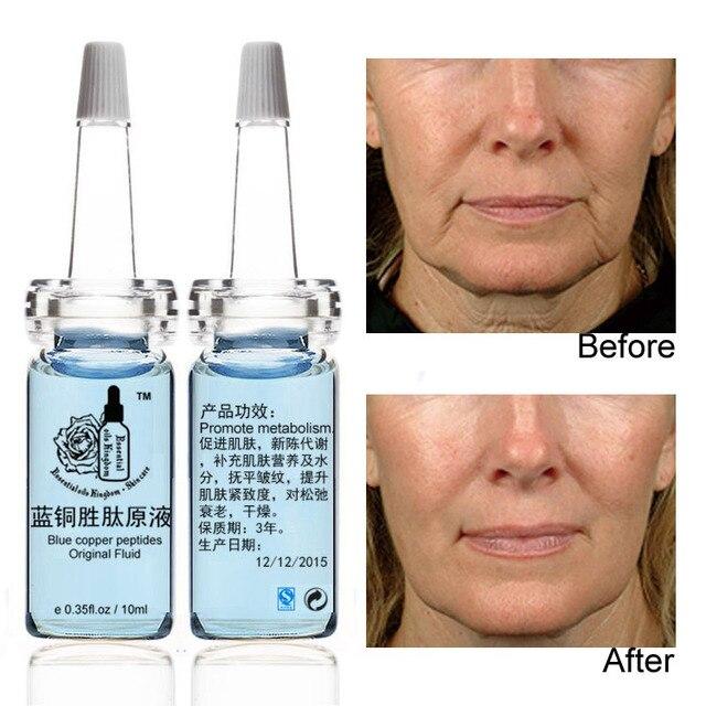 10ml*2pcs Blue copper peptides original fluid aging Anti wrinkle sun repair Shrink pores acne remove red blood moisturizing