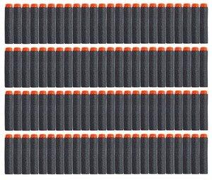 100 шт. для пуль Nerf, мягкие полые отверстия 7,2 см, пополняемая игрушка дартс, пистолет, черные пули для бластеров серии Nerf, детские подарки